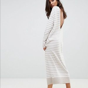 Micha Lounge Deep Back Midi Sweater Dress
